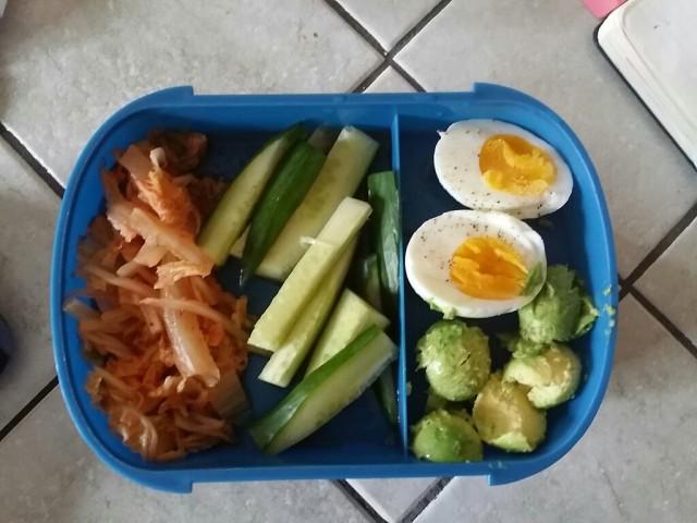 kimchi+cucumber+boiled egg+avocado