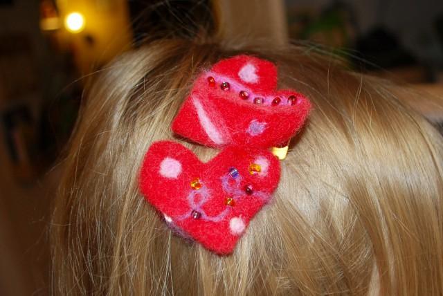 Valentine's hairpins
