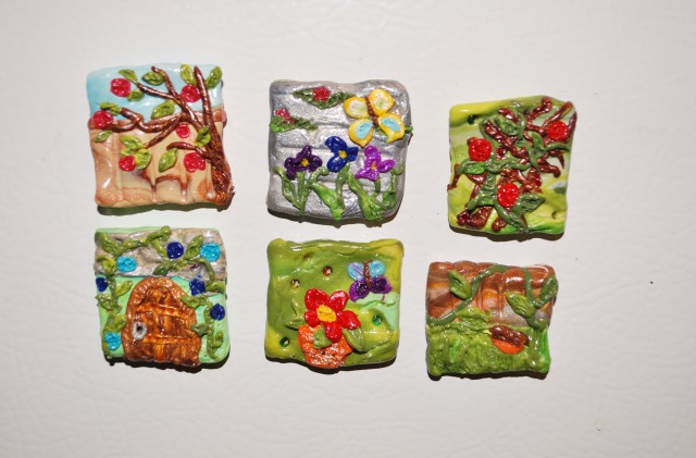 polymer clay inchies secret garden