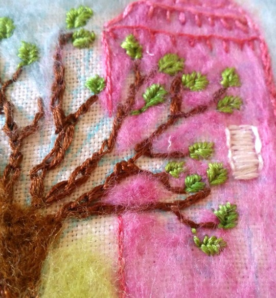 needle felt and embroidery