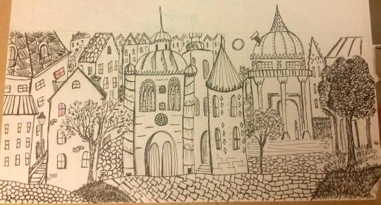 first I drew a city