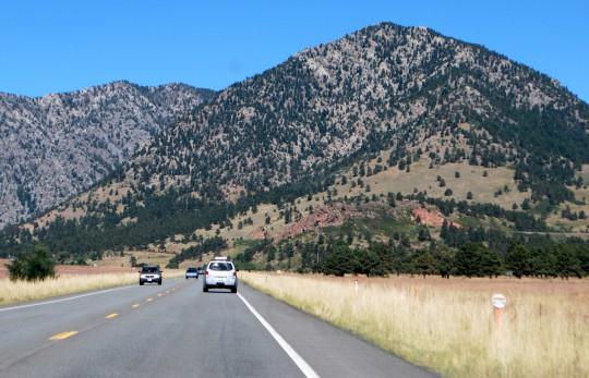 Boulder heading west