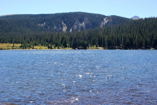Brainard Lake, sparkling like a jewel