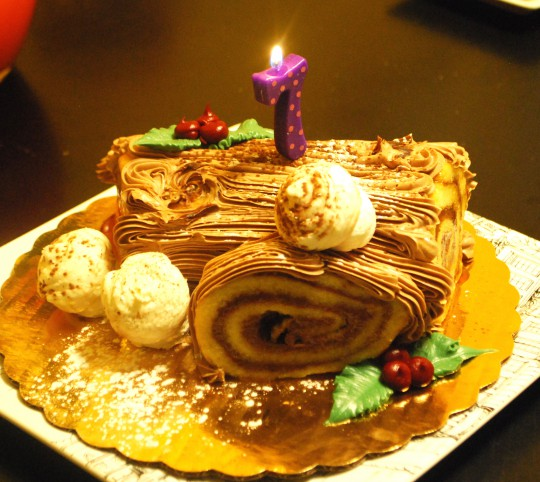 She chose Yule Log for her birthday cake :D I didn't bake it obviously